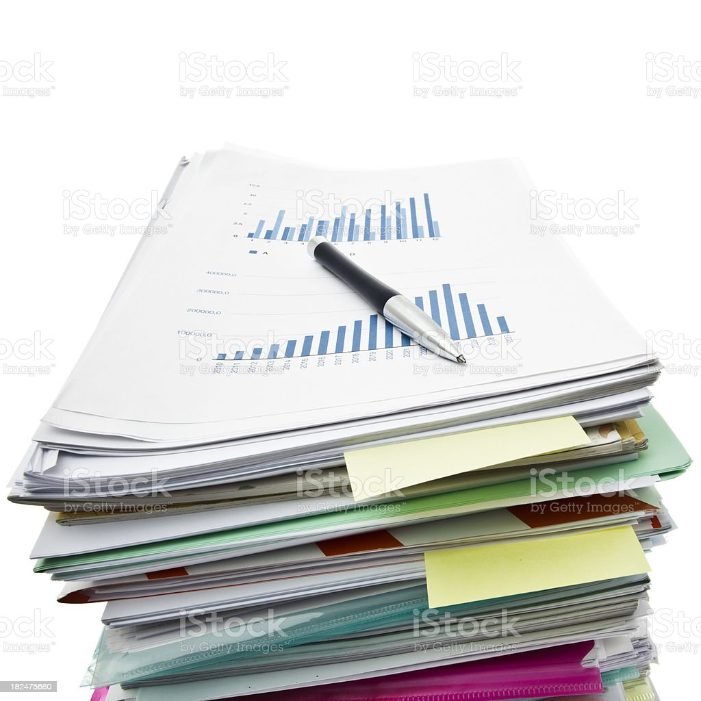 Paperwork and graps royalty-free stock photo