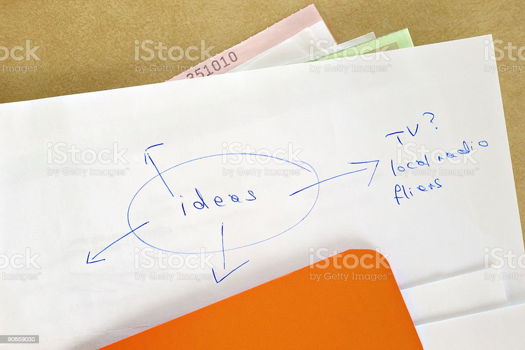 Paperwork - Ideas royalty-free stock photo