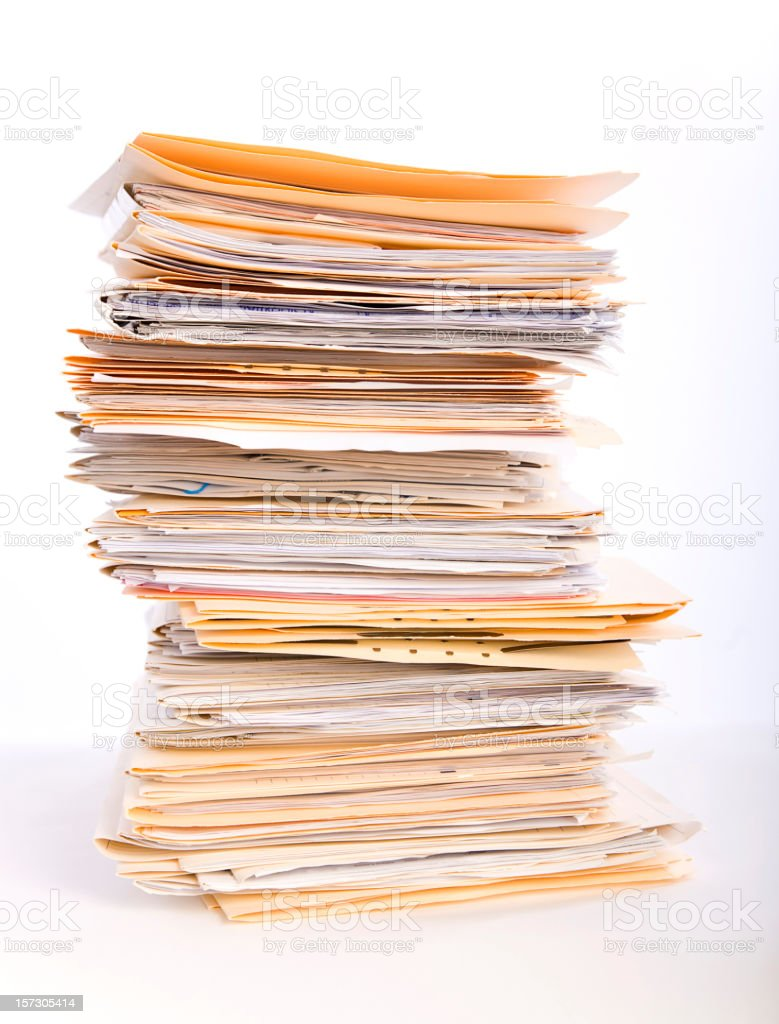 Paperwork Overload stock photo