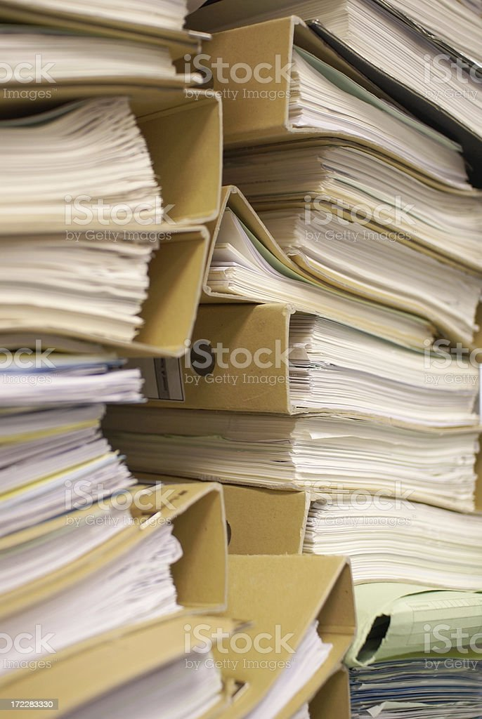 Paperwork royalty-free stock photo