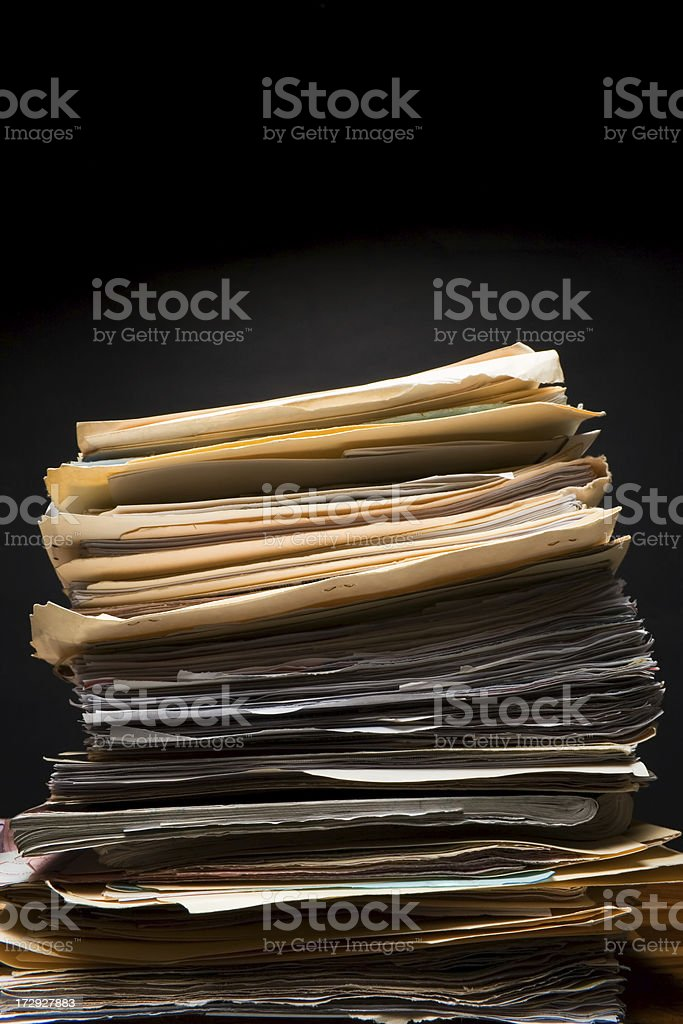 Paperwork royalty-free stock photo