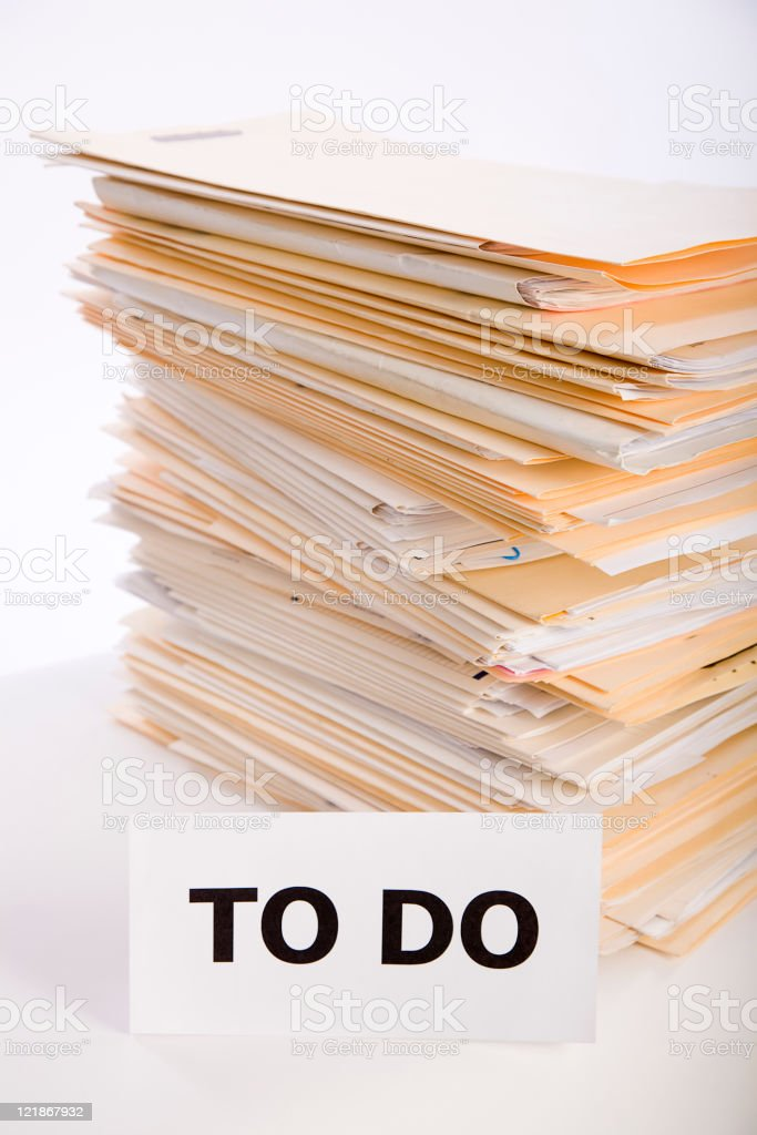 Paperwork To Do royalty-free stock photo