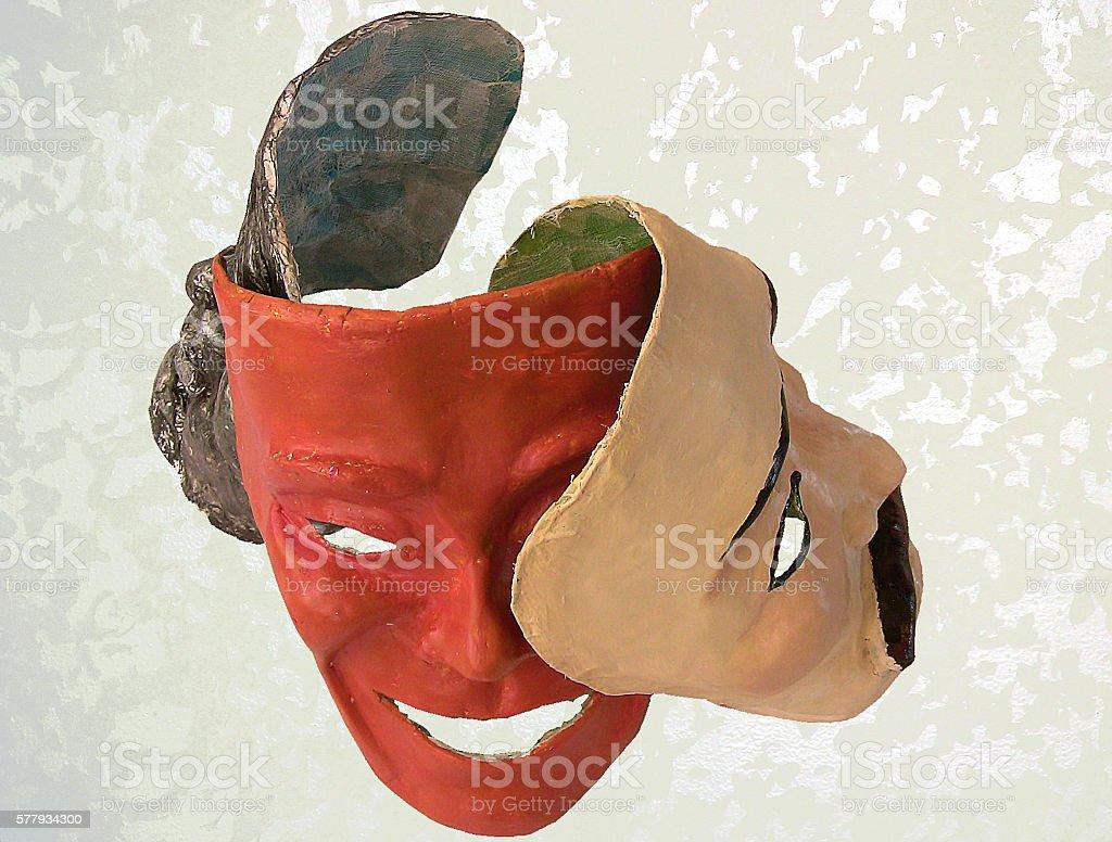 papier mache masks stock photo