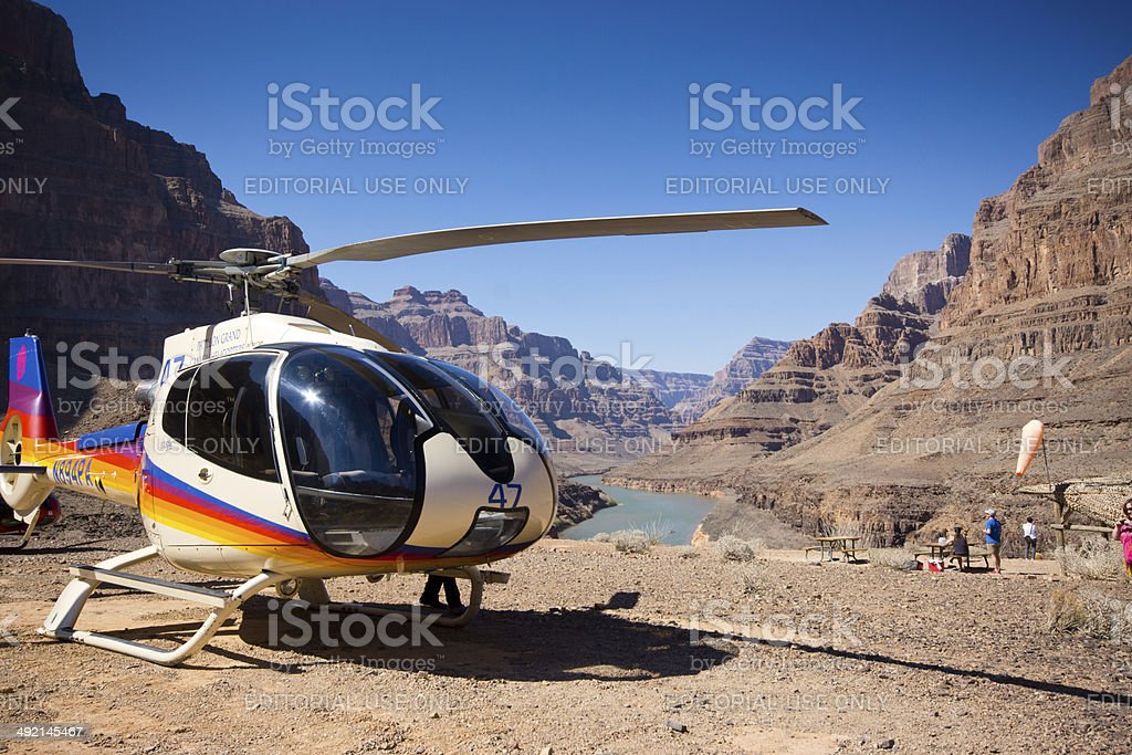 Papillon helicopter stock photo