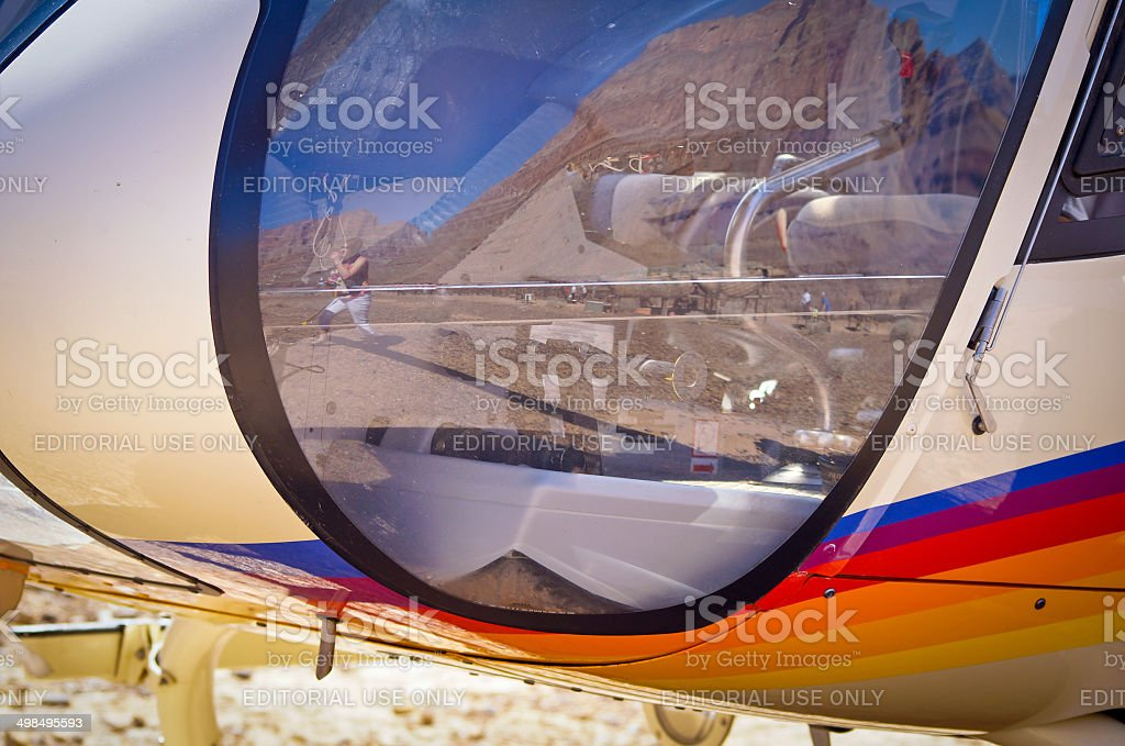Papillon helicopter tail stock photo