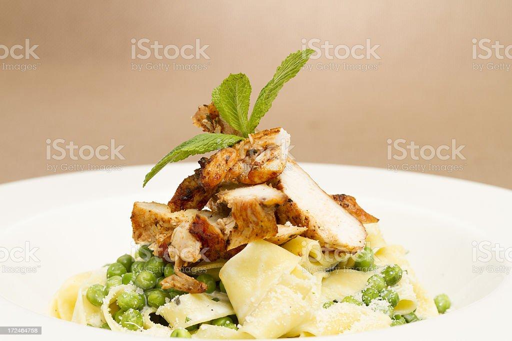 Pappardelle al pollo royalty-free stock photo