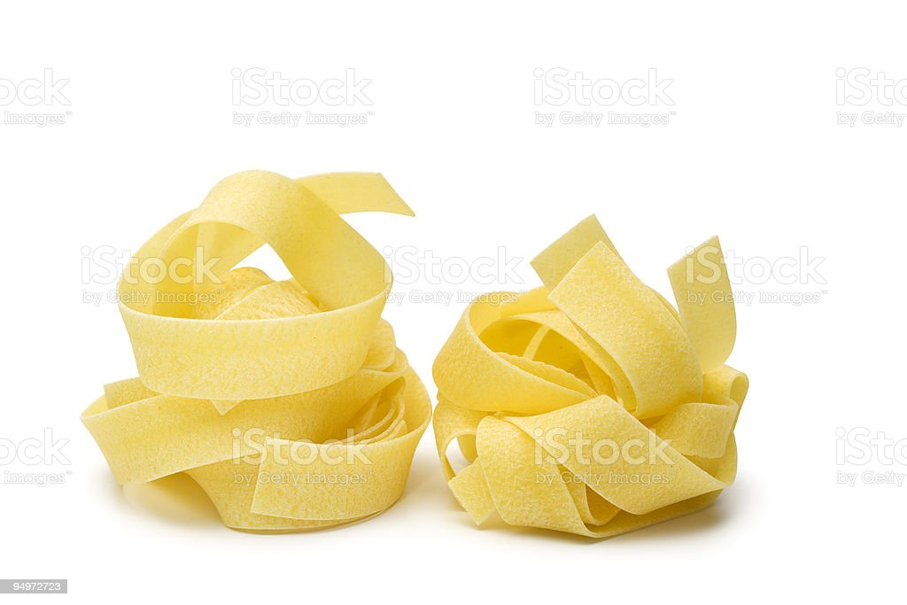 pappardelle pasta isolated stock photo