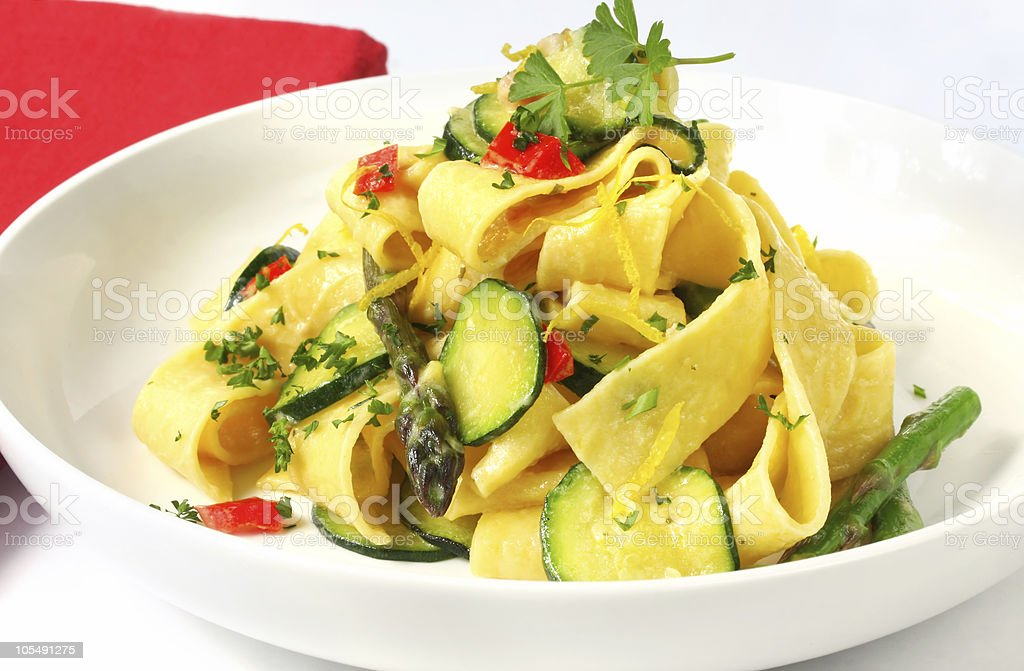 Pappardelle stock photo