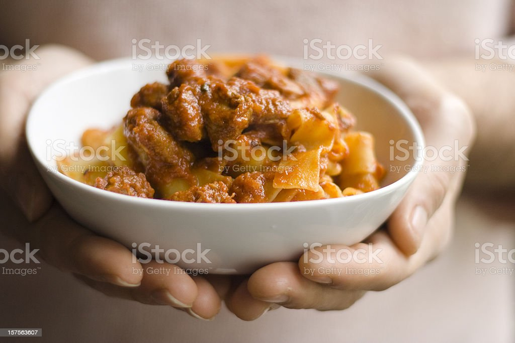 Pappardelle With Boar Ragout stock photo