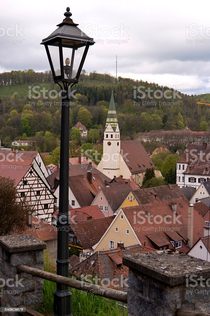 Pappenheim in the Altmühltal in Germany stock photo