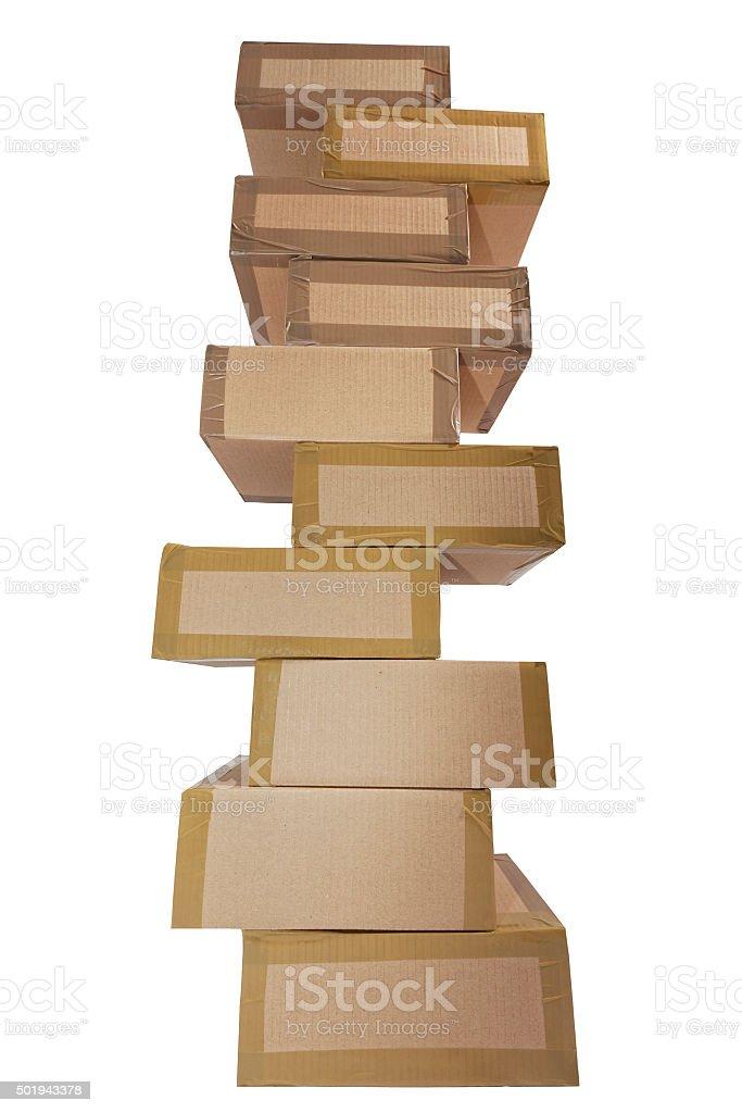 Pappkartonstapel stock photo