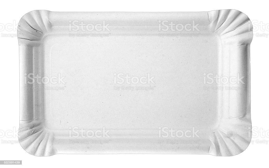 Pappteller stock photo