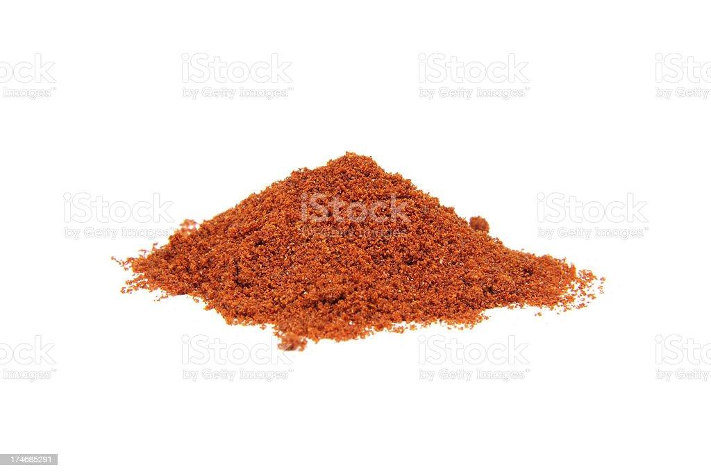 paprika powder on white royalty-free stock photo