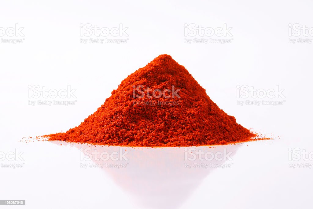 Paprika powder stock photo
