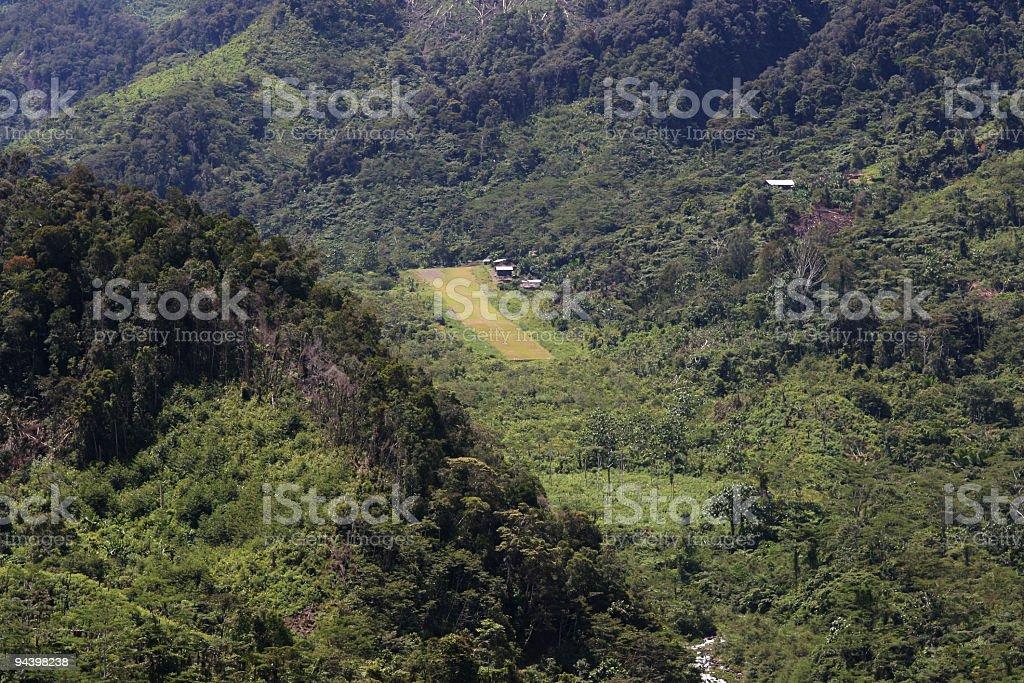 Papua new guinea Airstrip. royalty-free stock photo