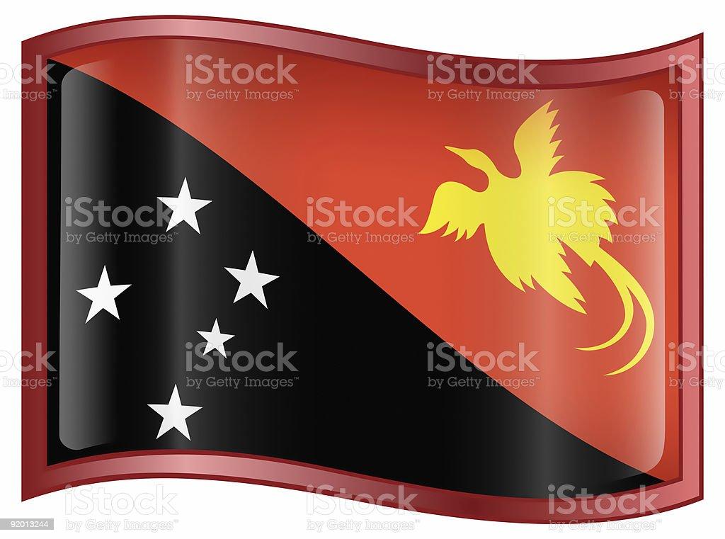 Papua New Guinea flag icon, isolated on white background royalty-free stock photo
