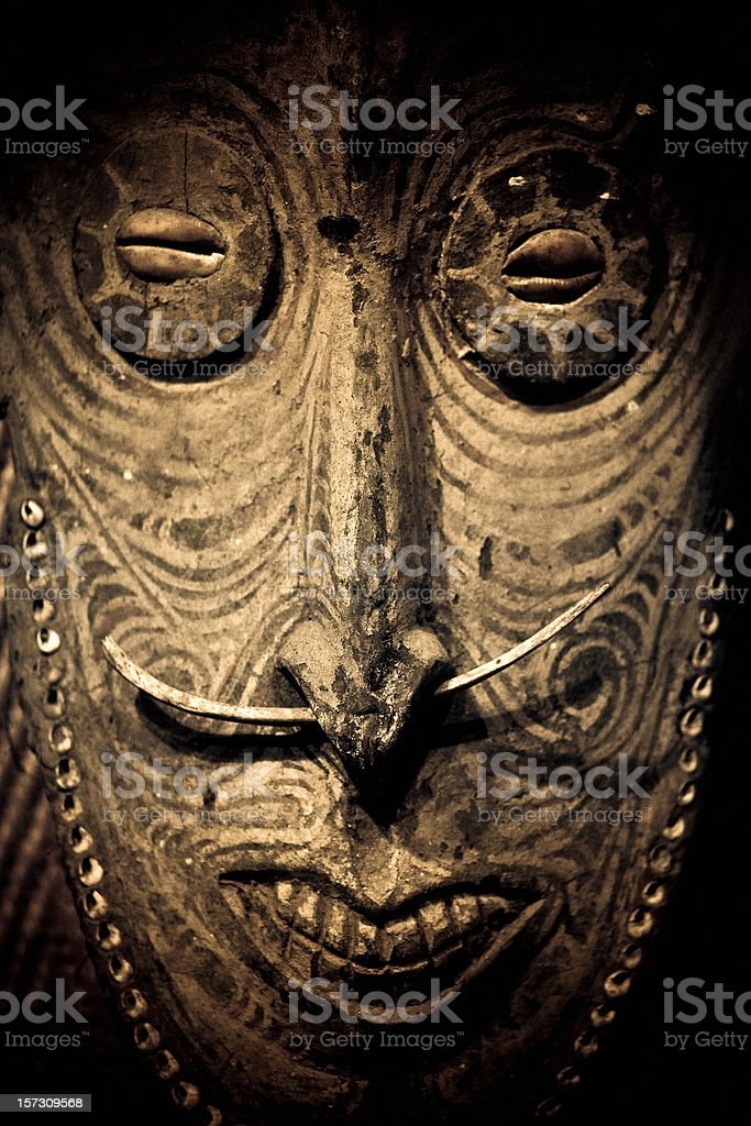 Papua New Guinea mask royalty-free stock photo