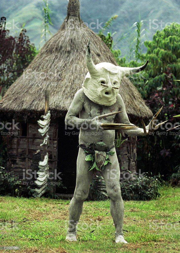 Papua New Guinea Mudman royalty-free stock photo