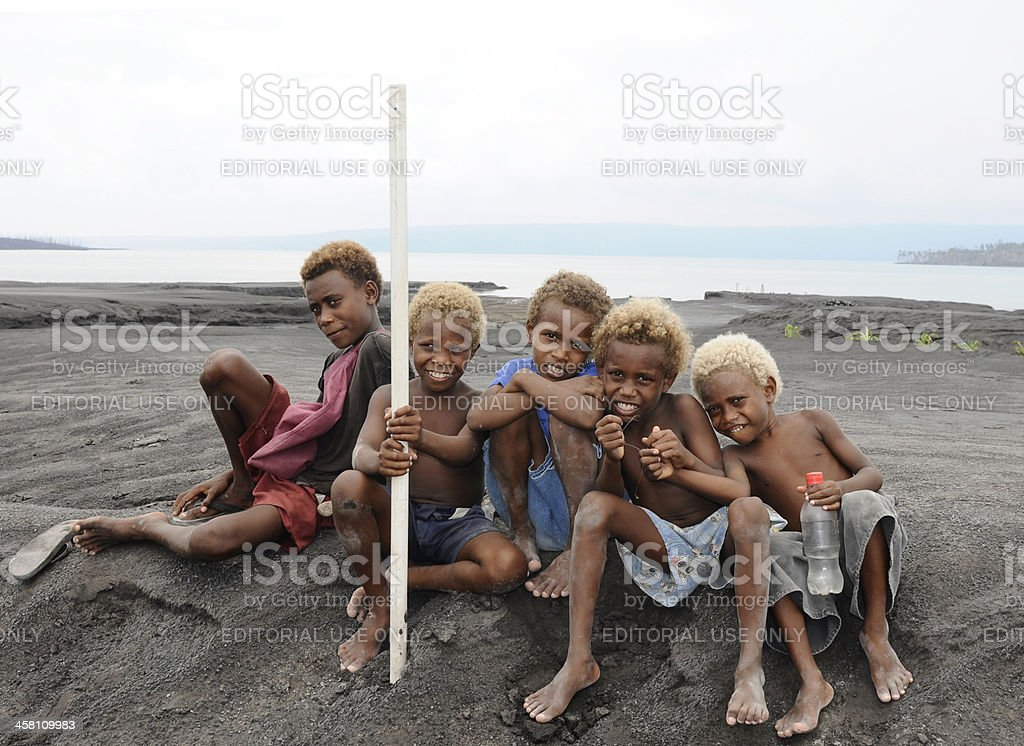Papua New Guinean Kids stock photo
