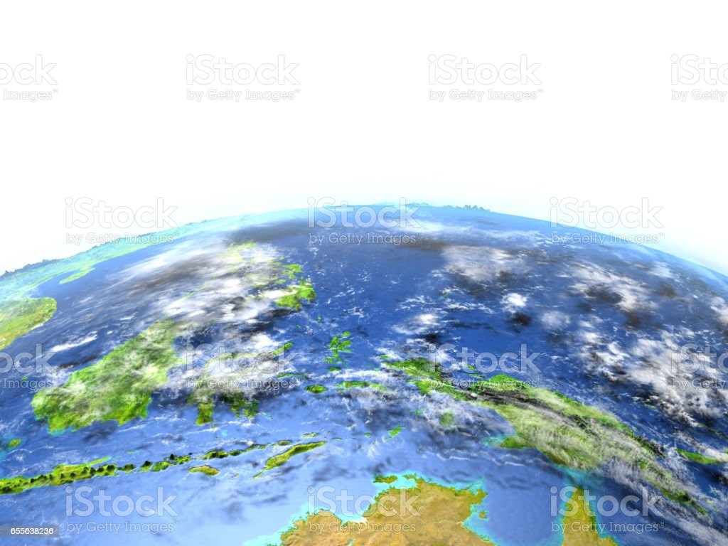 Papua on planet Earth stock photo
