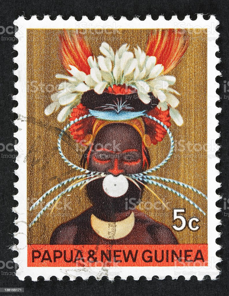 Papuan royalty-free stock photo