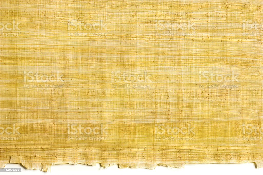 Papyrus background with edge royalty-free stock photo