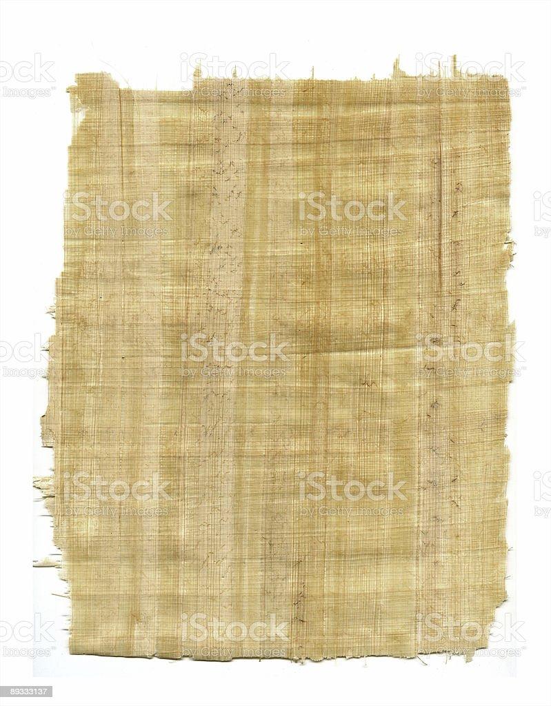 Papyrus Fragment stock photo