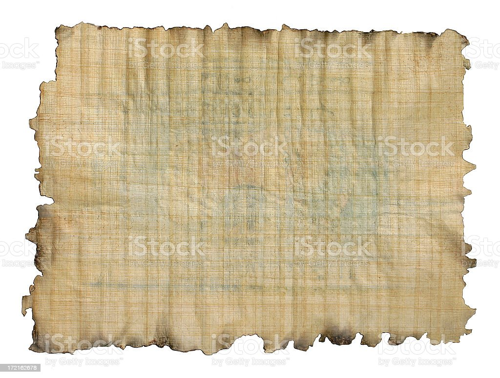 Papyrus Paper stock photo