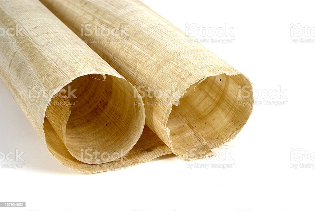 Papyrus roll 2 stock photo