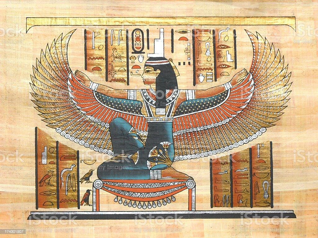 Papyrus tan markings with bird man stock photo