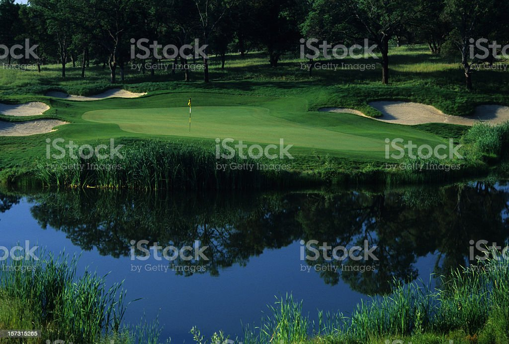Par 3 with water royalty-free stock photo