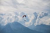 Para glider flying