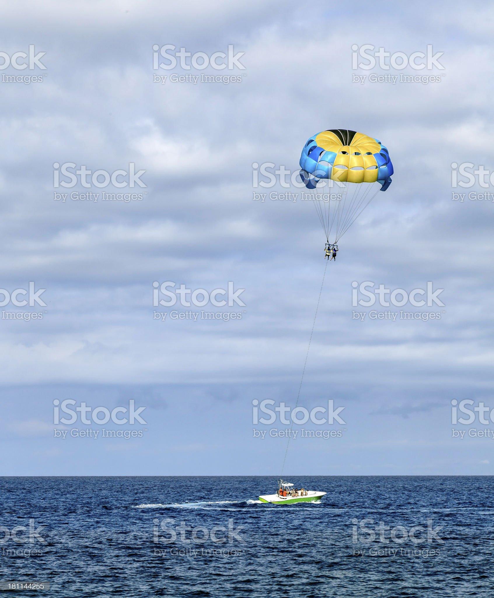 Para Sailing in the Bahamas royalty-free stock photo