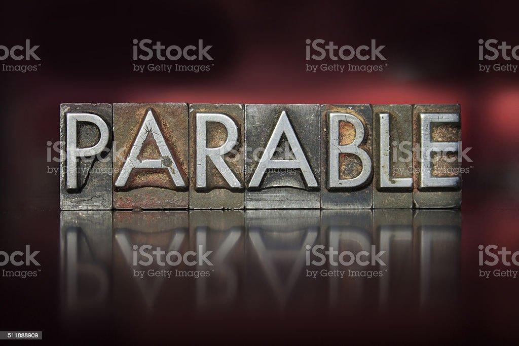 Parable Letterpress stock photo