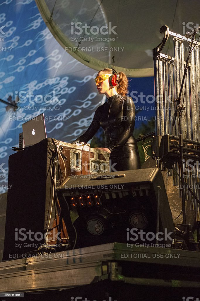 Paraboles show by Cie Off company during B-FIT Festival royalty-free stock photo