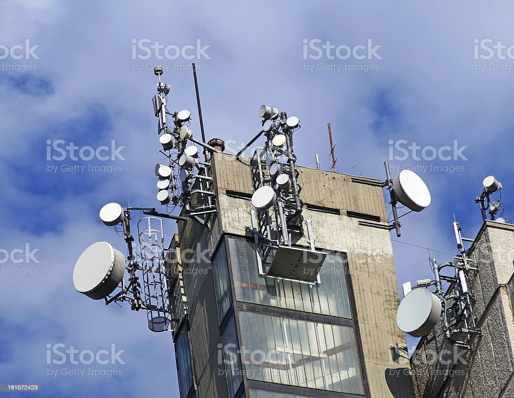 parabolic antennas royalty-free stock photo