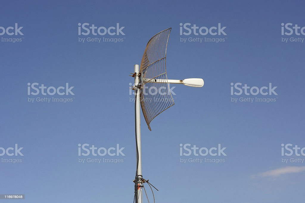 Parabolic Grid Antenna stock photo