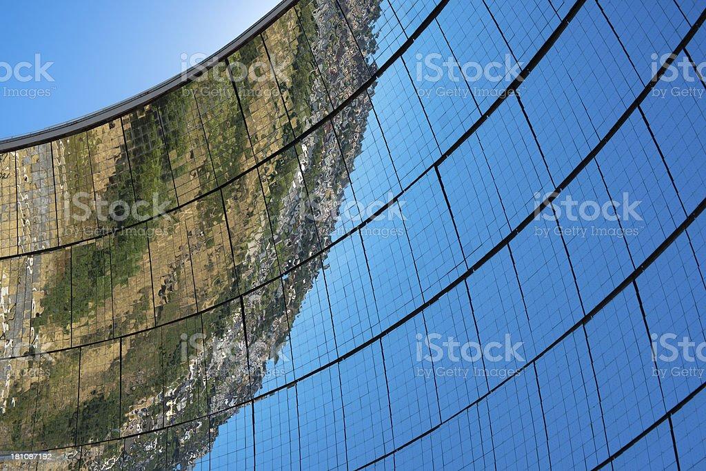Parabolic mirrors stock photo