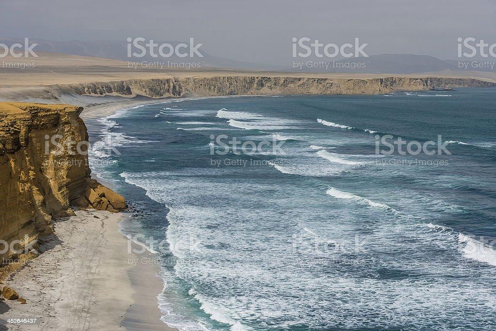 Paracas bay peruvian coast Ica Peru stock photo