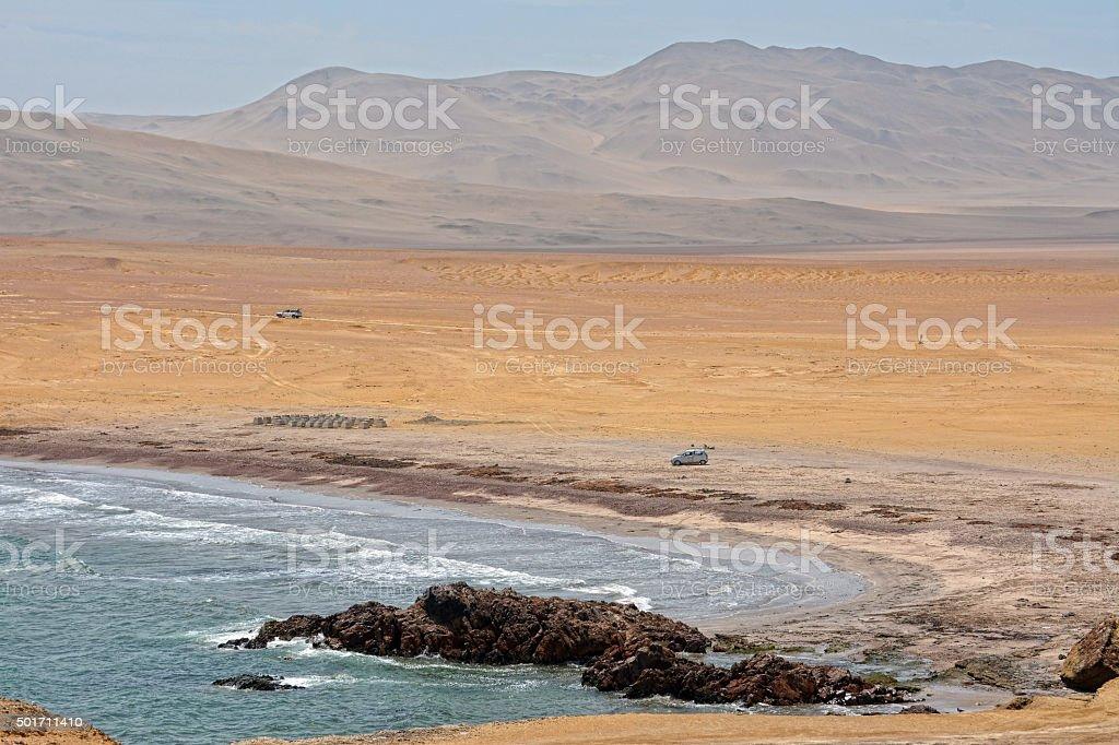 Paracas National Reserve, Peru. stock photo