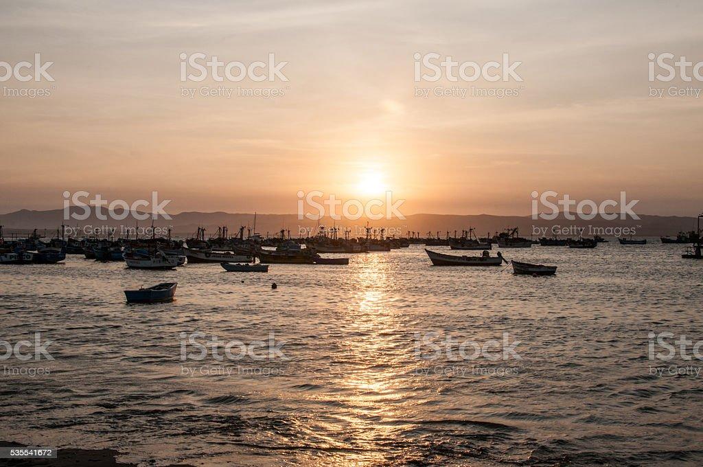 Paracas Sunset stock photo