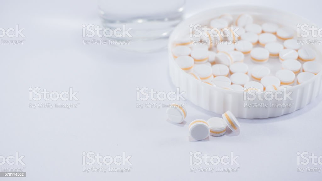 Paracetamol for pain relief royalty-free stock photo