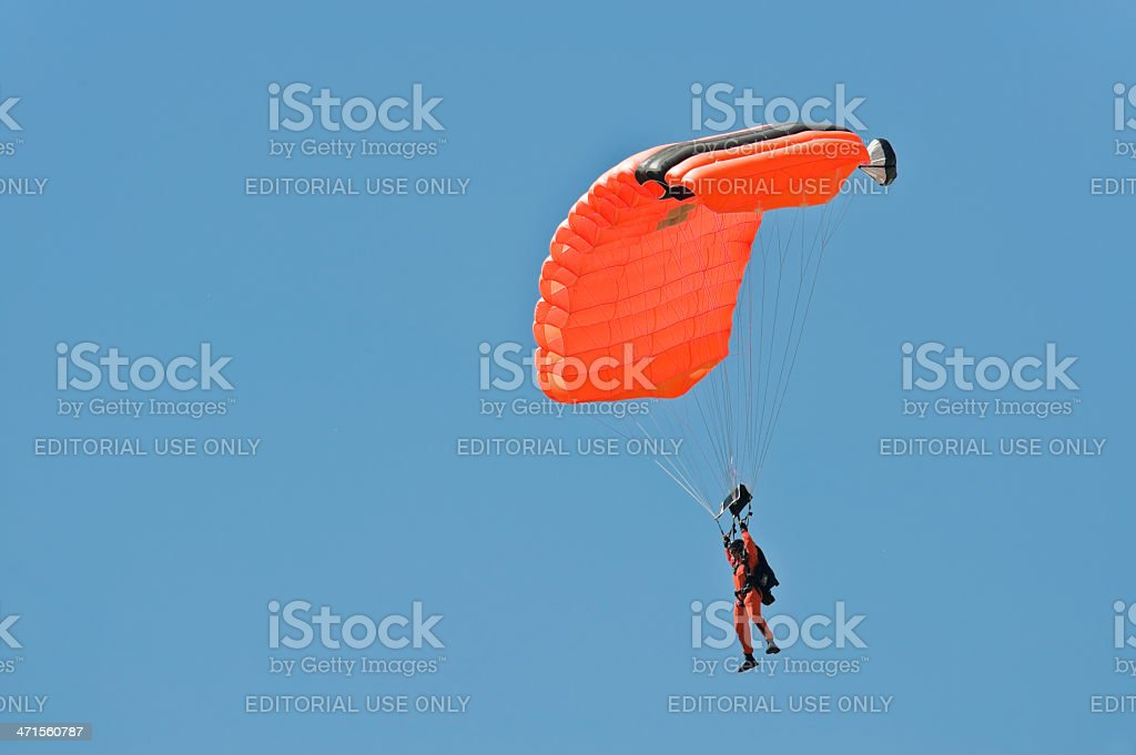 Parachute Control royalty-free stock photo