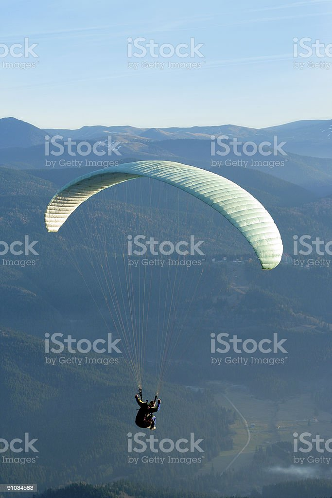 Parachute flying royalty-free stock photo