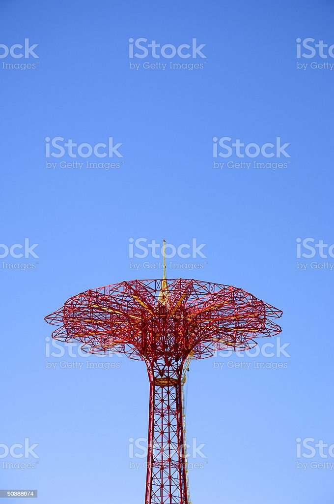 Parachute Jump In Coney Island royalty-free stock photo