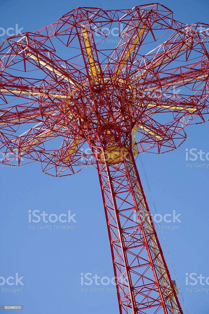 Parachute Jump royalty-free stock photo