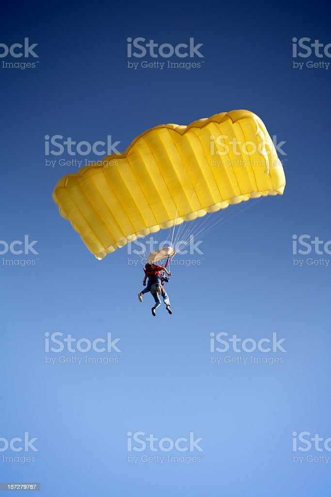 Parachute Jumping royalty-free stock photo