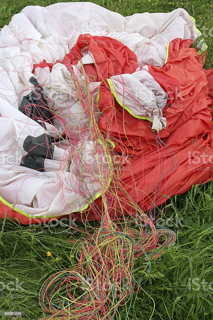 Parachute of paragliding # 2 royalty-free stock photo