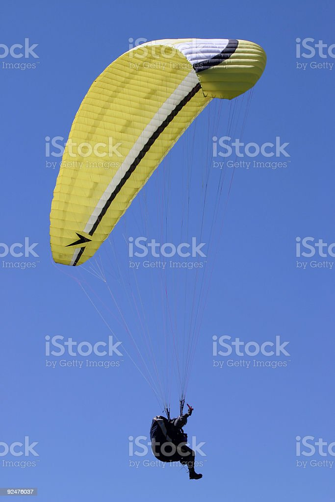 Parachute - outdoor sports royalty-free stock photo