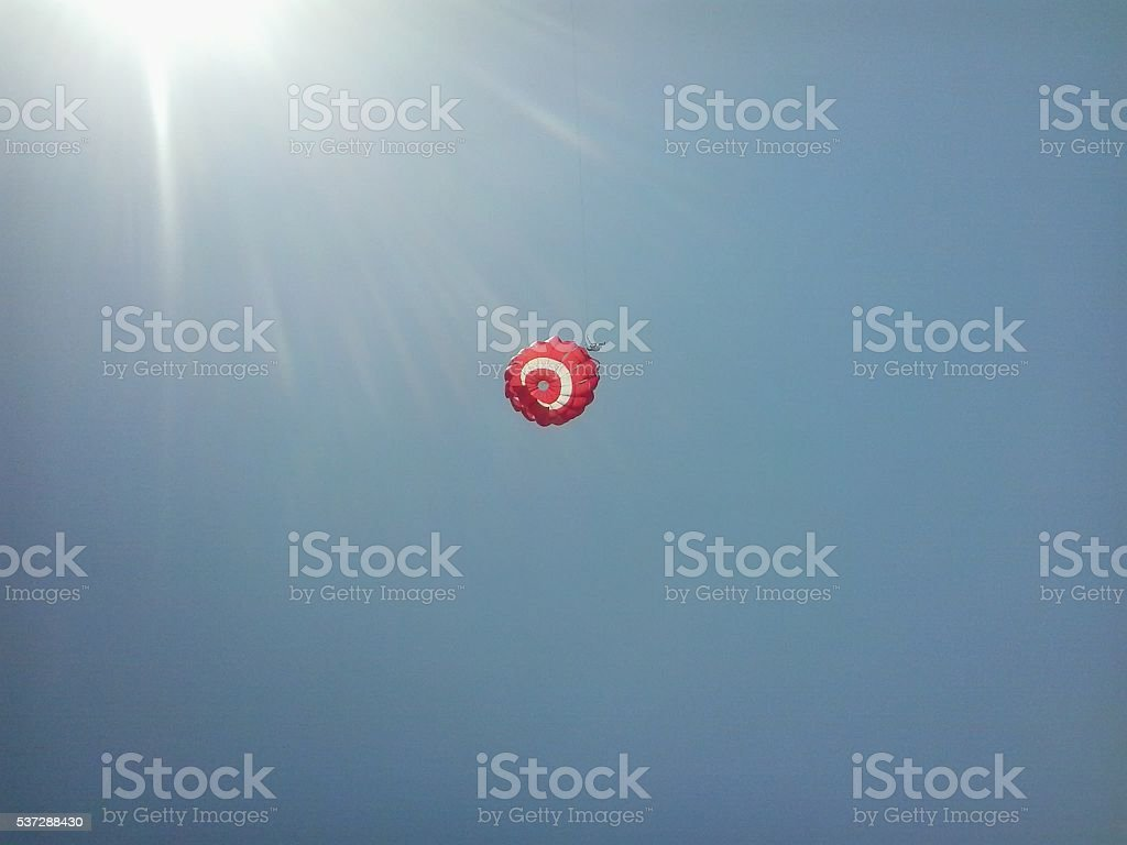 Parachute sailing the active form of recreation stock photo